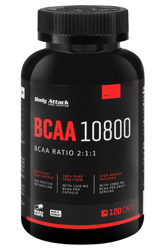 Body Attack BCAA 10800 - 120 Caps